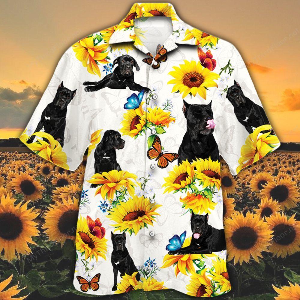 Cane Corso Dog Lovers Sun Flower Hawaiian Shirt