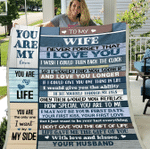 Personalized Blanket To My Wife Never Forget That I Love You, I Wish I Could Turn Back The Clock, Gift For Wife Fleece Blanket - Spreadstores