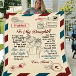 Personalized Blanket, Gift For Daughter, Best Gift For Daughter, To My Daughter, I Hugged This Soft Blanket Fleece Blanket - Spreadstores