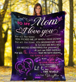 Mother Blanket To My Mom I Love You For All The Times You Picked Purple Fleece Blanket, Gift From Daughter - Spreadstores