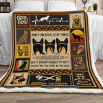 Money Can Buy A Lot Of Things But It Doesn't Wiggle Its Butt German Shepherd Dog Sherpa Blanket - Spreadstores