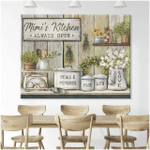 Personalized Canvas, Custom Name Kitchen Canvas, Meals And Memories Made With Love Wall Art Decor - Spreadstores