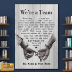 Personalized Canvas, We're A Team, When I Say Love You More, Gift For Her For Him Canvas - Spreadstores
