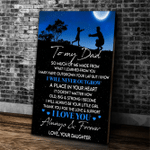 Personalized Canvas, To My Dad Canvas, Father's Day Gifts For Dad, So Much Of Me Dad And Daughter Canvas - Spreadstores