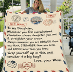 Personalized Blanket, To My Daughter, Whenever You Feel Overwhelmed Fleece Blanket - Spreadstores