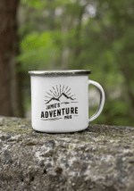 Personalized Campfire Mug, Personalized Camper Mug, Adventure Mug Enamel, Travel Gifts, Gift For Dad, Father's Day Gift Campfire Mug - Spreadstores