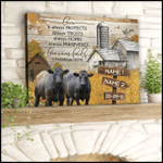 Personalized Canvas, Gift For Him, Gift For Her, Cow Couple Love Never Fails Custom Name And Date Canvas - Spreadstores