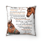 Mom Pillow, To My Mom For All The Times That I Forgot To Thank You Horse Pillow, Gift From Daughter - Spreadstores