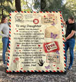 Personalized Blanket, To My Daughter Inside This Blanket Is A Piece Of My Heart Sherpa Blanket - Spreadstores