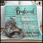 Personalized Boyfriend Blanket, Custom Name Blanket, To My Boyfriend My Love My Heart Sherpa Blanket - Spreadstores