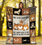 Money Can Buy A Lot Of Things Corgi Dog Corgi Butt Sherpa Blanket - Spreadstores