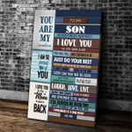 Personalized Canvas, Gift For Son, To My Son Never Forget How Much I Love You Canvas - Spreadstores