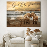 Personalized Canvas, Gift For Her, God Blessed The Broken Road Horse Custom Name Canvas - Spreadstores
