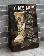 Veteran Mom Canvas, Mother's Day Gift For Mom, To My Mom For All The Times That I Forgot Canvas - Spreadstores