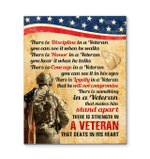 Veteran Canvas There Is Something In A Veteran That Makes Him Stand Apart There Is Strength In A Veteran Canvas - Spreadstores