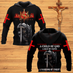 Veteran Hoodie, Jesus Christ, A Child Of God A Man Of Faith All Over Printed Hoodie - Spreadstores