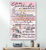 To My Granddaughter Once Upon A Time Elephant Canvas - Spreadstores