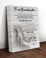 To My Granddaughter You Are The Beautiful Flowers Of My Garden That Holds My Heart Flowers Canvas - Spreadstores