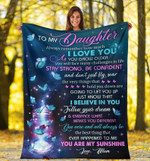 To My Daughter Blanket, Always Remember How Much I Love You Butterflies Fleece Blanket, Gift For Daughter - Spreadstores