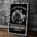 Veteran Canvas, I Can't Go To Hell The Devil Still Has A Restraining Order Against Me Canvas - Spreadstores