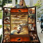 To My Daughter Wherever Your Journey May Take You Girl Riding Horse Fleece Blanket - Spreadstores