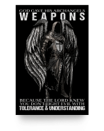 Veteran Poster, God Gave His Archangels Weapons Because The Lord Knew You Don't Poster 24x36 - Spreadstores