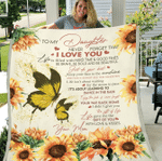 To My Daughter, Never Forget That I Love You, Life Is Filled With Hard Time & Good Times Fleece Blanket - Spreadstores