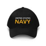 Veteran Hat, Veteran Cap, US Navy Veteran, Navy Veteran Unisex Twill Hat - Spreadstores