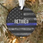 Veteran Ornament, Gift For Veteran, Retired Circle Ornament (2 sided) - Spreadstores
