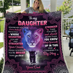 To My Daughter Whenever You Feel Overwhelmed Remember Whose Daughter You Are Lions Sherpa Blanket - Spreadstores