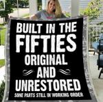 Veteran Blanket, Father's Day Gift For Dad, Built In The Fifties Original And Unrestored Fleece Blanket - Spreadstores