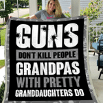 Veteran Blanket, Gifts For Dad, Guns Don't Kill People Grandpas Will Pretty Sherpa Blanket - Spreadstores