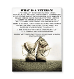 Veteran Canvas Happy Veterans Day To All Who Have Served Past And Present Matte Canvas - Spreadstores