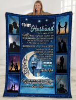 To My Husband Once Upon A Time God Knew My Heart Needed You Husband And Wife Sherpa Blanket - Spreadstores