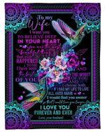 Valentine's Day Gift, Gift For Her, To My Wife I Want You To Believe Deep Fleece Blanket - Spreadstores