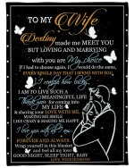 To My Wife Blanket, Destiny Made Me Meet You, Gifts For Wife Sherpa Blanket - Spreadstores