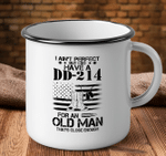 Veteran Mug, I Do Have A Dd-214 For An Old Man That's Close Enough Camping Mug - Spreadstores