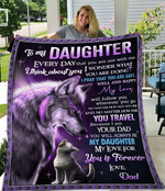 To My Daughter Every Day That You Are Not With Me I Think About You Fleece Blanket - Spreadstores