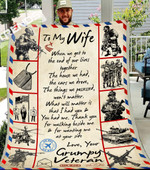To My Wife When We Get To The End Of Our Lives Together Fleece Blanket - Spreadstores