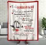 To My Gorgeous Wife Meeting You Was Fate Becoming Your Friend, Was A Choice Firefighter Fleece Blanket - Spreadstores