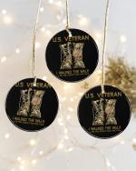 Veteran Ornament, Us Veteran Veteran Walked The Walk Combat Boots Circle Ornament (2 Sided) - Spreadstores