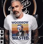 Woodrow Wasted US Drinking 4th Of July Vintage Shirt Independence Day American T-Shirt - Spreadstores