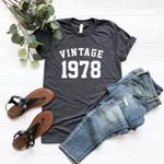 Vintage 1978 Birthday Gift Shirt V7, 43rd Birthday Vintage Shirt, Gift For Her For Him Unisex T-Shirt KM0904 - Spreadstores