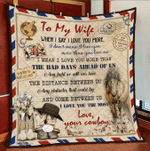 Wife Quilt, Gifts For Her, To My Wife When I Say I Love You More Veteran Quilt Blanket - Spreadstores