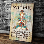 Yoga Canvas, Home Wall Art Decor, Birthday Gifts Idea, May Girl Yoga The Soul Of A Witch Portrait Canvas - Spreadstores