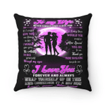 Wife Pillow, Gift For Wife, Valentine's Gift Ideas, To My Wife Never Forget I Love You Purple Moon Pillow - Spreadstores
