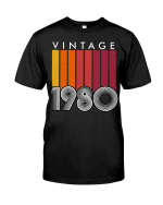 Vintage 1980, Limited Edition 41st Birthday Gifts For Him For Her, Birthday Unisex T-Shirt KM0704 - Spreadstores