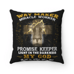 Way Maker Miracle Worker Promise Keeper Light In The Darkness My God Pillow - Spreadstores