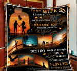 Wife Quilt, Gifts For Her, To My Wife, I Didn't Marry You So I Could Live With You Quilt Blanket - Spreadstores