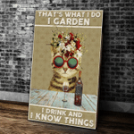 Wine Canvas That's What I Do I Garden I Drink And I Know Things Matte Canvas - Spreadstores
